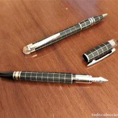 Canetas de tinta permanente antigas, esferográficas e plumas: CONJUNTO MONTBLANCH STARWALKER, NUEVO A ESTRENAR. Lote 263246035