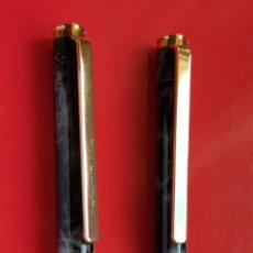 Estilográficas antiguas, bolígrafos y plumas: CONJUNTO DE PLUMA ESTILOGRAFICA Y BOLÍGRAFO HAUSER. Lote 265331454