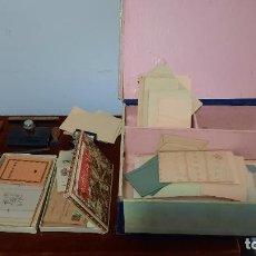 Canetas de tinta permanente antigas, esferográficas e plumas: ESCRIBANIA EN MINIATURAS PARA NIÑOS MUY COMPLETA,MULTIPLES PIEZAS. Lote 265337534