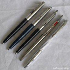 Canetas de tinta permanente antigas, esferográficas e plumas: 5 BOLÍGRAFOS INOXCROM. Lote 283667833