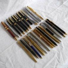 Canetas de tinta permanente antigas, esferográficas e plumas: 26 BOLÍGRAFOS METÁLICOS. Lote 283667953