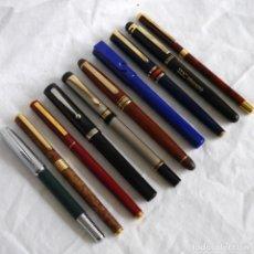 Canetas de tinta permanente antigas, esferográficas e plumas: 10 PLUMAS ESTILOGRÁFICAS. Lote 283668083