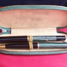 Stilografiche antiche, penne a sfera e penne: CONJUNTO PELIKAN 400 PLUMA CON EL PLUMIN DE ORO 14 K Y PORTAMINAS. Lote 287551933