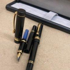 Stilografiche antiche, penne a sfera e penne: JUEGO BOLÍGRAFO Y PLUMA CUERPO LACADO NEGRO. Lote 287926878