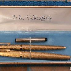 Stilografiche antiche, penne a sfera e penne: CONJUNTO PLUMA Y BOLÍGRAFO LADY SHEAFFER. Lote 289436723