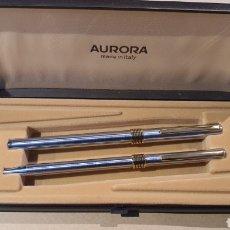 Canetas de tinta permanente antigas, esferográficas e plumas: CONJUNTO DE PLUMA Y BOLÍGRAFO AURORA. Lote 289458508