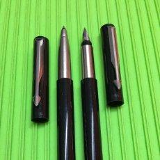 Estilográficas antiguas, bolígrafos y plumas: SET PARKER PLUMA+ROLLERBALL VECTOR. Lote 289485878