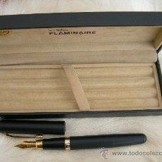 Plumas estilográficas antiguas: PLUMA FLAMINAIRE - CONTIENE ESTUCHE ORIGINAL. Lote 25317990