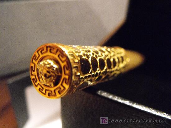 Plumas estilográficas antiguas: PLUMA ESTILOGRÁFICA GIANNI VERSACE DE ORO MACIZO 18K.100 % ORIGINAL. FOUNTAIN PEN, SOLID GOLD 18K. - Foto 5 - 27299582