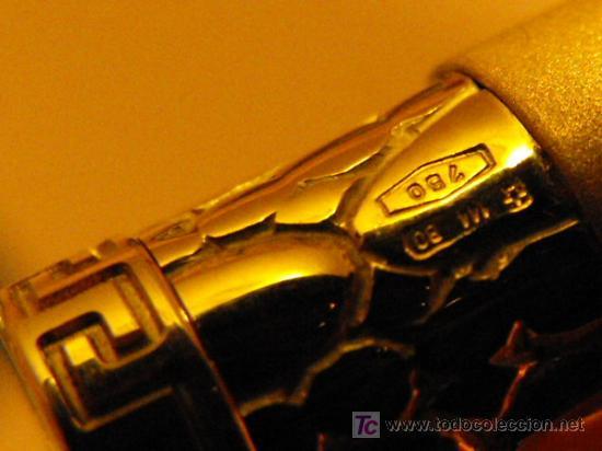 Plumas estilográficas antiguas: PLUMA ESTILOGRÁFICA GIANNI VERSACE DE ORO MACIZO 18K.100 % ORIGINAL. FOUNTAIN PEN, SOLID GOLD 18K. - Foto 11 - 27299582