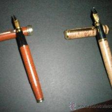 Plumas estilográficas antiguas: CONJUNTO DE 2 ESTILOGRÁFICAS GRUESAS SIN MARCA,TAMAÑO GRANDE.. Lote 26761440