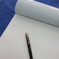 Plumas estilográficas antiguas: PLUMA ESTILOGRAFICA PARKER - NEGRA CON DETALLES DORADOS - MUY FINA Y ELEGANTE - DE CARTUCHO. Lote 26516793