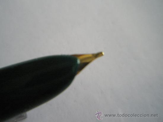 Plumas estilográficas antiguas: ANTIGUA PLUMA ESTILOGRÁFICA STYLFEX 404 - VERDE Y ACERO -SPAIN. - Foto 6 - 26433319