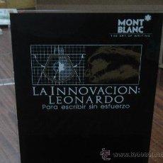 Plumas estilográficas antiguas: EXPOSITOR MONT BLANC. COLECCION LEONARDO. . Lote 27668909