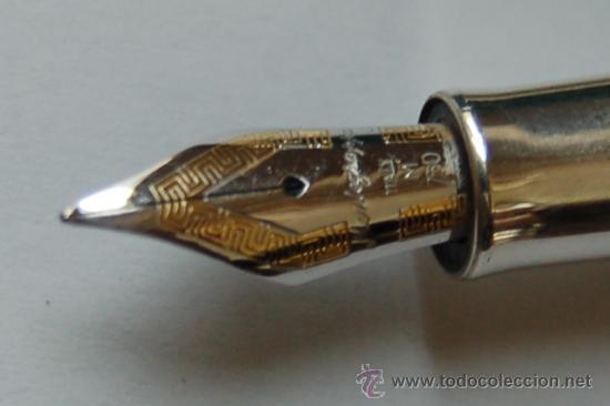 Plumas estilográficas antiguas: Pluma estilográfica Montegrapa, Italy. Plata 925 y resina madreperla. Plumín M 750. - Foto 3 - 27941784