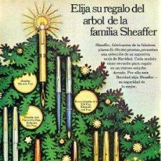 Plumas estilográficas antiguas: PUBLICIDAD EN PRENSA 1969 13.5X18.5 - SHEAFFER - ESCRITURA NAVIDAD. Lote 28071216