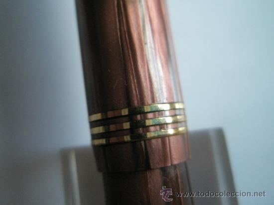 Plumas estilográficas antiguas: NN1397-PLUMA ESTILOGRÁFICA-ENGLAND-WATERMAN 513-MADREPERLA MAGENTA/VIOLETAS-PLUMIN ORO 14 K ORIG - Foto 7 - 31697969