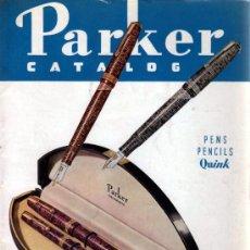 Plumas estilográficas antiguas: ESTILOGRÁFICA PARKER. CATÁLOGO 1937. VACUMATIC, CHALLENGER Y PARKETTE. Lote 33464133