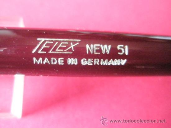 Plumas estilográficas antiguas: 913·/TELEX 51-PLUMA ESTILOGRÁFICA-GERMANY-BURDEOS Y DORADOS-ÉMBOLO-NUEVA. - Foto 6 - 35495080