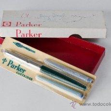 Plumas estilográficas antiguas: PLUMA PARKER CON CAJA, MADE IN FRANCE. Lote 35919257