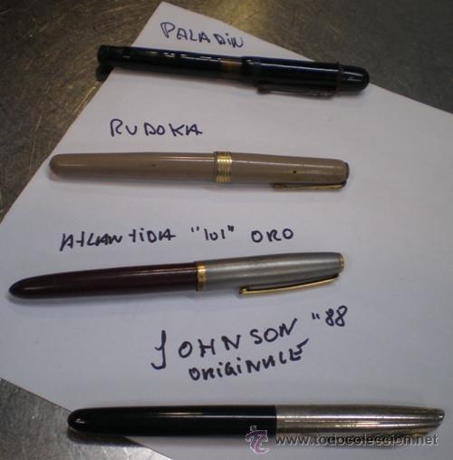 LOTE DE 4 PLUMAS Y UN BOLI ANTIGUOS (Plumas Estilográficas, Bolígrafos y Plumillas - Plumas)