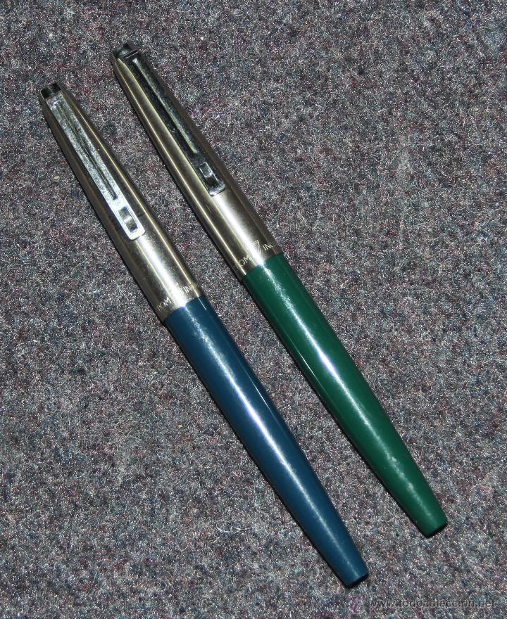 2 PLUMAS ESTILOGRAFICAS INOXCROM 55 Y 77 (Plumas Estilográficas, Bolígrafos y Plumillas - Plumas)