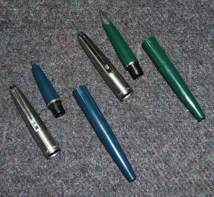 Plumas estilográficas antiguas: 2 PLUMAS ESTILOGRAFICAS INOXCROM 55 Y 77 - Foto 2 - 40471059