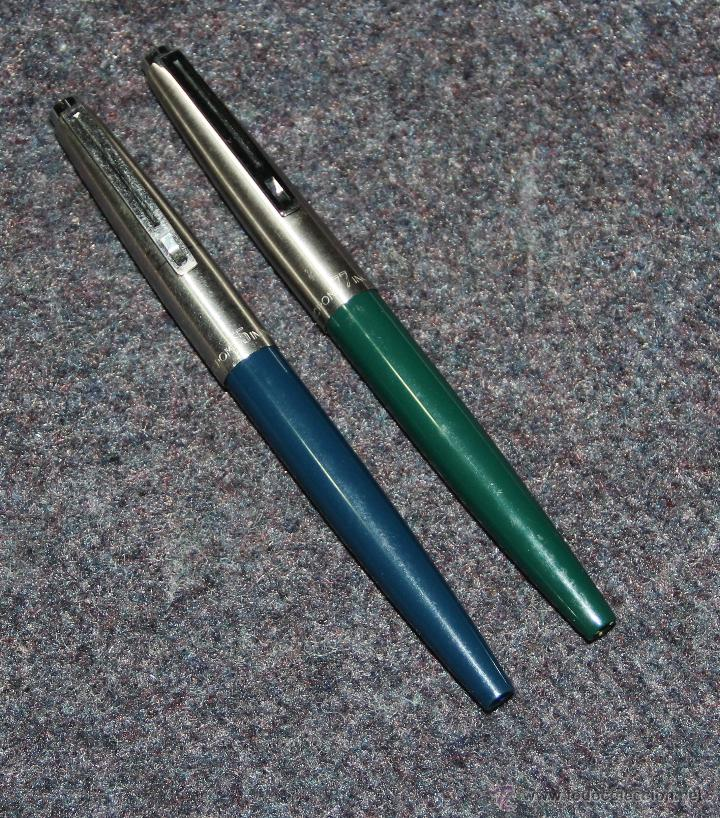 Plumas estilográficas antiguas: 2 PLUMAS ESTILOGRAFICAS INOXCROM 55 Y 77 - Foto 3 - 40471059