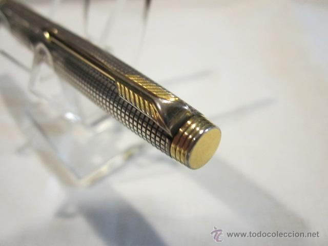 Plumas estilográficas antiguas: Pluma estilográfica Parker 75 de plata. plumín oro de 14 k. Medida: 12,5 cms. - Foto 5 - 40634180