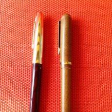 Plumas estilográficas antiguas: LOTE DE 2 PLUMAS MARCA HERO 330 Y MARKSMAN. Lote 43657993