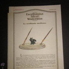 Plumas estilográficas antiguas: CATALOGO DE PLUMAS - ESCRIBANIAS IDEAL WATERMAN - AÑO 1929 - VER FOTOS. Lote 45482514