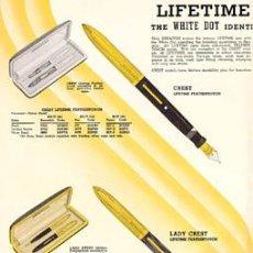 Plumas estilográficas antiguas: ESTILOGRÁFICA SHEAFFER´S. CATÁLOGO 1938. Lote 52330582