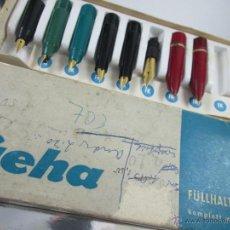 Plumas estilográficas antiguas: Aª CAJA-7 BOQUILLAS-GEHA-VARIADAS-VER FOTOS.. Lote 46556827
