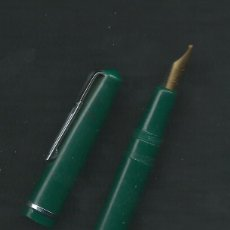 Plumas estilográficas antiguas: PLUMA - PLUMIN INOXCROM -0- COLOR VERDE.. Lote 47606913