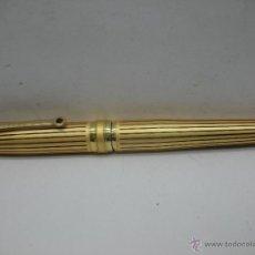 Plumas estilográficas antiguas: IRIDIUM - PLUMA DE COLOR DORADA FABRICADA EN ALEMANIA. Lote 47895274