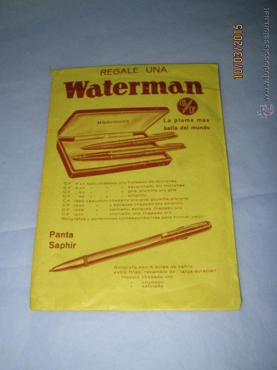 Plumas estilográficas antiguas: Antiguo Sobre Envoltorio de Plumas y Boligrafos Estilograficas WATERMAN'S - Foto 3 - 48290058