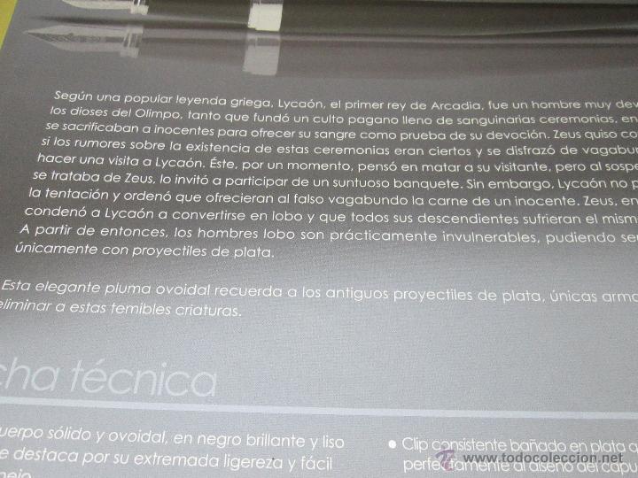 Plumas estilográficas antiguas: 990/PLUMA ESTILOGRÁFICA-SILVER LEGENDS LYCAÓN-NEGRO+BAÑO PLATA-CAJA-141 MMS-NUEVA-VER FOTOS. - Foto 2 - 37187951