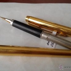 Old Fountain Pens - PLUMA ESTILOGRÁFICA PARKER 180 PLAQUE DE ORO 12 K, MADE IN USA. CERRADA 13.5 CM - 49233666