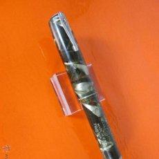 Plumas estilográficas antiguas: NN1070-PLUMA ESTILOGRAFICA-USA-WATERMAN IDEAL 3V MARMOLADOS VERDES-108 MM-VER FOTOS.. Lote 49417884