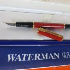 Plumas estilográficas antiguas: NN950-PLUMA ESTILOGRAFICA-FRANCE-WATERMAN LAUREAT CORAL-BUEN ESTADO-PAPEL-CAJA-. Lote 31999071