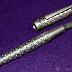 Plumas estilográficas antiguas: PLUMA ESTILOGRAFICA IRIDIUM POINT GERMANY. PLATEADA.. Lote 49668070