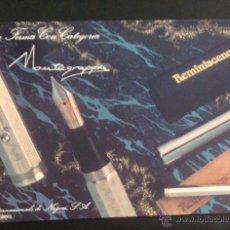 Plumas estilográficas antiguas: CATALOGO FOLLETO PUBLICIDAD ORIGINAL DE PLUMAS ESTILOGRAFICAS Y BOLIGRAFOS MONTEGRAPPA. Lote 50036436