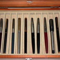 Plumas estilográficas antiguas: COLECCION DE 12 PLUMAS INOXCROM. Lote 50456373