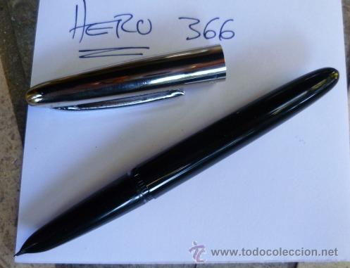 Plumas estilográficas antiguas: HERO 366. PLUMIN TRAZO FINO. PLUMA ESTILOGRÁFICA VINTAGE DE ÉMBOLO. - Foto 3 - 101785611