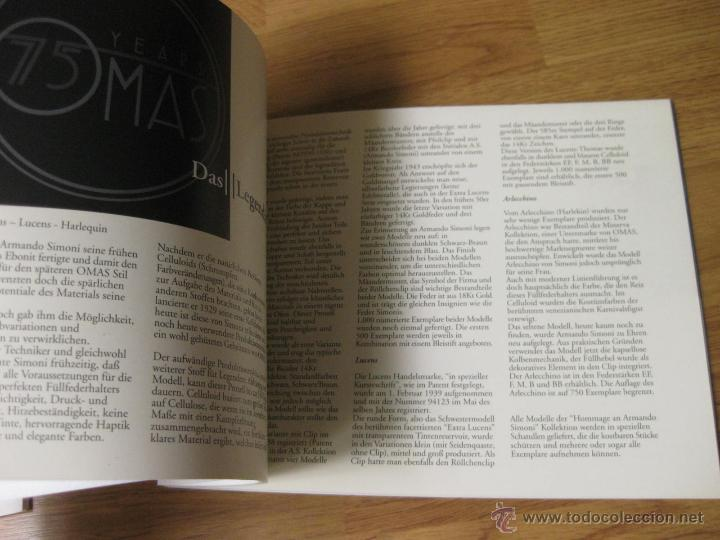 Plumas estilográficas antiguas: CATALOGO E INSTRUCCIONES DA LA PLUMA ESTILOGRAFICA OMAS - Foto 4 - 52423537