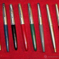 Plumas estilográficas antiguas: COLECCION DE 8 PLUMAS PARKER. Lote 52751741