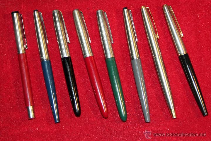 Plumas estilográficas antiguas: COLECCION DE 8 PLUMAS PARKER - Foto 2 - 52751741