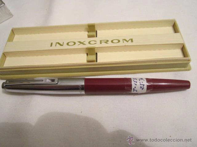 Plumas estilográficas antiguas: Pluma estilográfica Inoxcrom 33. Acero y granate. 13,5 cms. - Foto 2 - 53704830