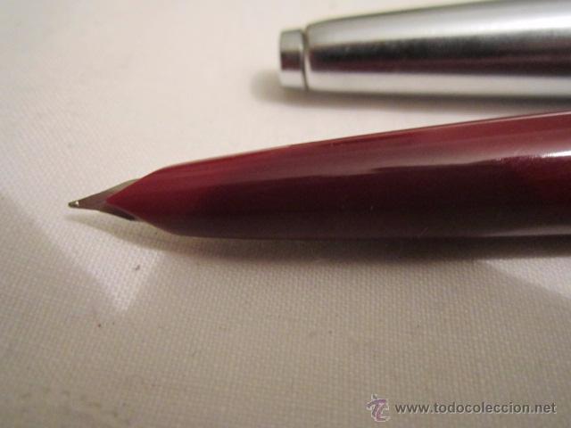 Plumas estilográficas antiguas: Pluma estilográfica Inoxcrom 33. Acero y granate. 13,5 cms. - Foto 4 - 53704830