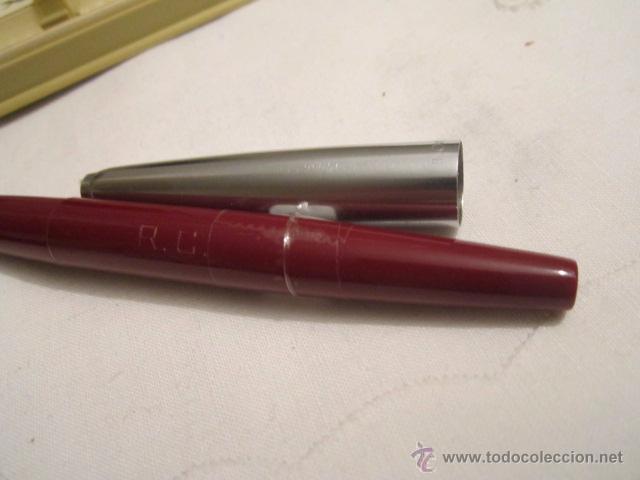 Plumas estilográficas antiguas: Pluma estilográfica Inoxcrom 33. Acero y granate. 13,5 cms. - Foto 5 - 53704830